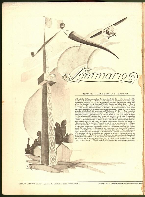 Centro Studi Repubblica Sociale Italiana - L'Ala d'Italia 1928 nn. 3 e 4